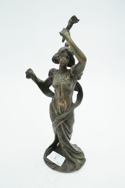 BRUCHON Emile (ACT.1880-1910) Jeune femme...