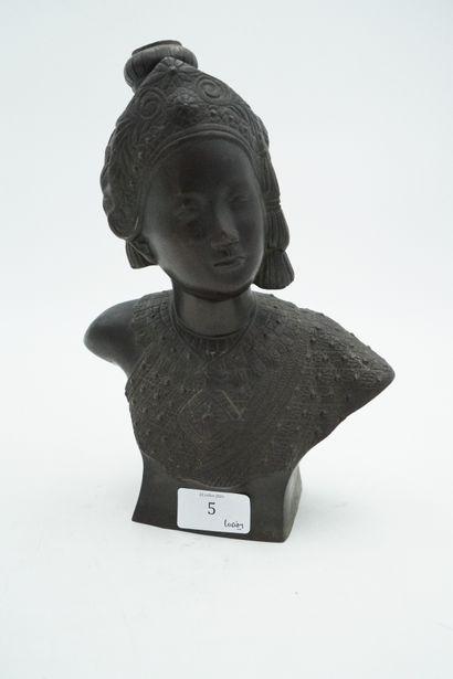 Ecole Moderne, Portrait de jeune femme asiatique,...