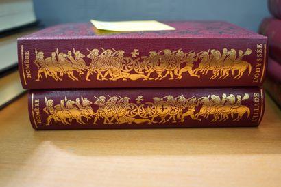 Homère, l'Illiade et l'Odyssée, trois volumes...