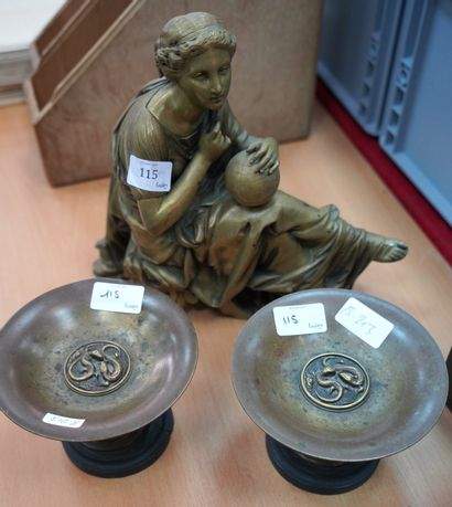 Uranie, allégorie l'astronomie, en bronze...