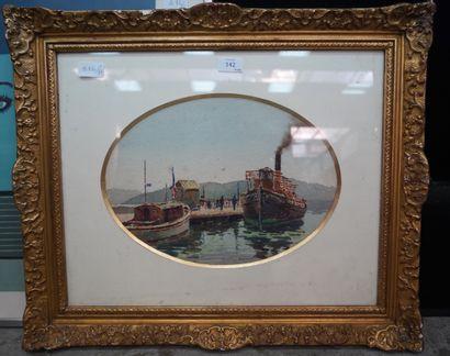 Romain JOUVEU (XIXe-XXe), le retour du bateau...