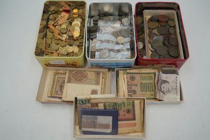 Important lot de pièces de monnaie dont pièces...