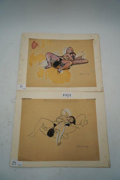 Roger de LA FRESNAYE (1885-1925) Deux scènes...