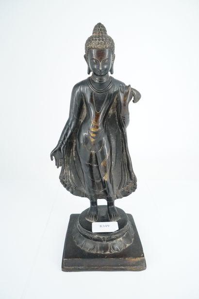 INDE - Moderne, deux statuettes en bronze...