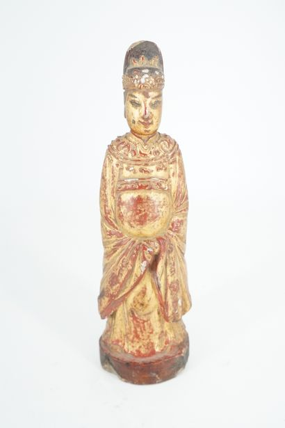CHINE - XIXe siècle, Statuette de dignitaire...