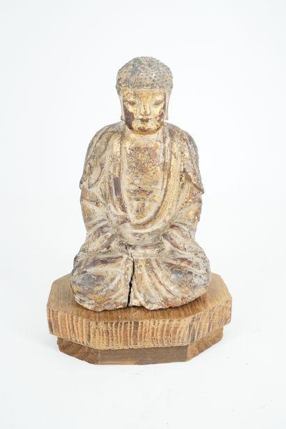 CHINE - XVIIe/XVIIIe siècle, Petite statuette...
