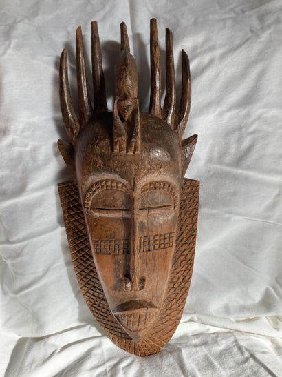 Masque de type Senoufo, Côte d'lvoire  Bois...