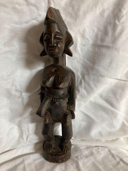 Statuette féminine de type Sénoufo, Côte...