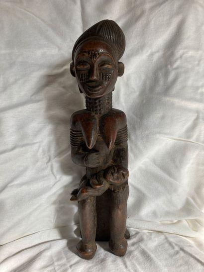 Maternité de type Côte d'Ivoire, bois à patine...