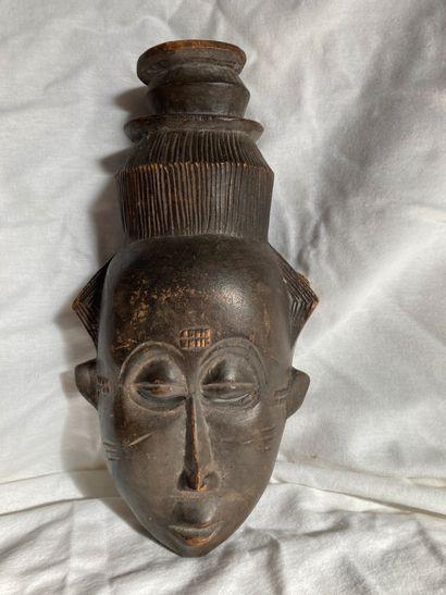 Masque de type Baoule, Côte  d'lvoire  Bois...