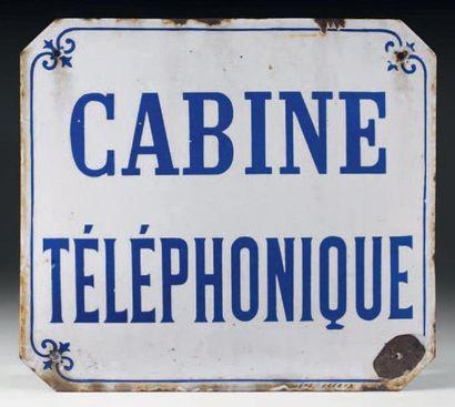 Plaque de signalétique de cabine téléphonique,...