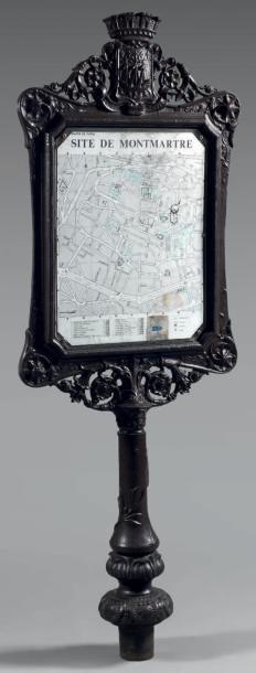 Panneau d'affichage de square en fonte peinte...
