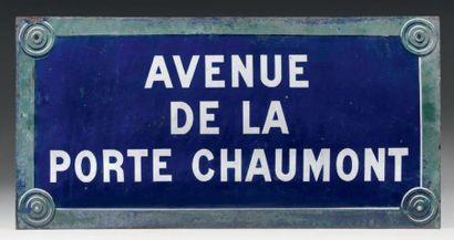 Plaque de signalétique de rue parisienne,...