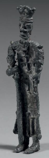 Figurine en plomb, dite «plomb de Seine»,...