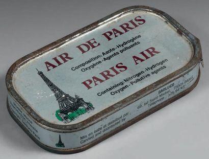 Boîte de conserve d'air de Paris, en fer peint, comportant, sur le couvercle, l'inscription...