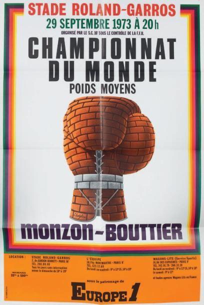Boxe Championnat du monde. MONZON BOUTTIER....