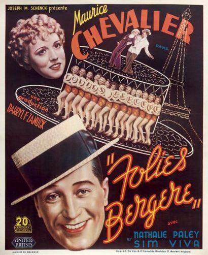 Folies Bergères. Film. 1935. Affiche originale...