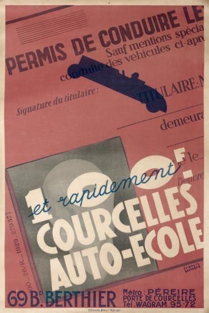Courcelles Auto École. Affiche. Fra. Ill....