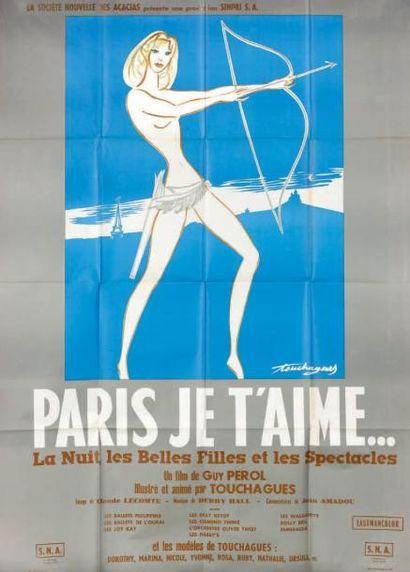 Paris, je t'aime. Film. 1963. Affiche. Fra....