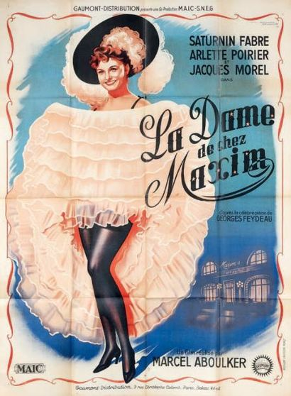 La Dame de chez Maxim. Film. 1950. Affiche....