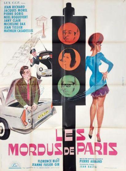 Les mordus de Paris. Film. 1964. Affiche....