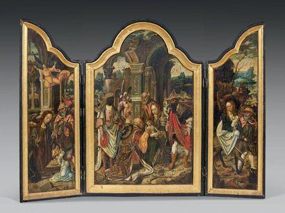 ATTRIBUÉ AU MAITRE DE 1518 (JAN VAN DORNICKE - TOURNAI ? CA. 1470 - ANVERS ? CA. 1527)