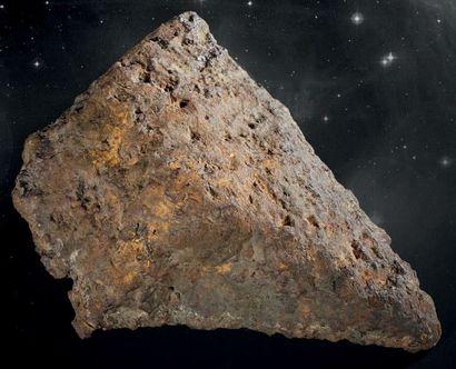 BRAHIN Pallasite Météorite brute, talon présentant...