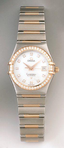 Montre bracelet de dame en or et acier, la...