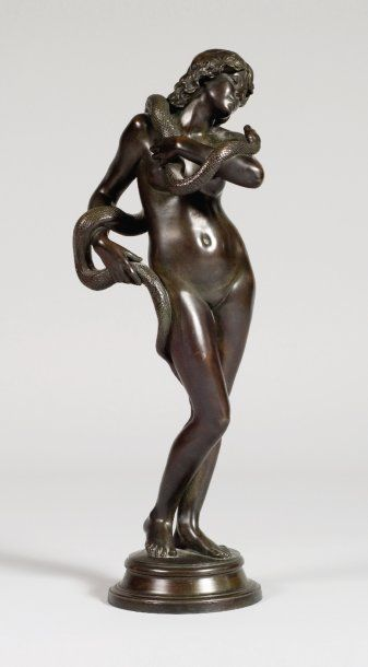 Jean-Antoine IDRAC (1849-1884) Eve au serpent...