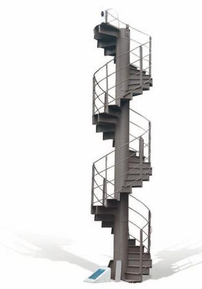 GUSTAVE EIFFEL (1832-1923) Élément n°16 de l'Escalier hélicoïdal d'origine de la...