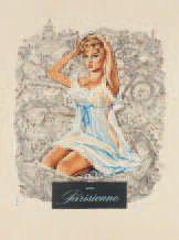 FERACCI Une Parisienne. Affichette du film. Brigitte Bardot se profile sur carte...