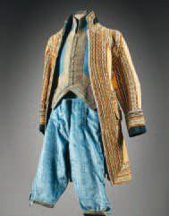 Charles de BEISTEGUI Quatre livrées de laquais, chacune comportant une veste en laine...