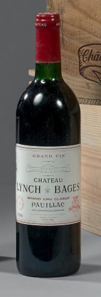 6 Bouteilles château LYNCH BAGES, grand cru...