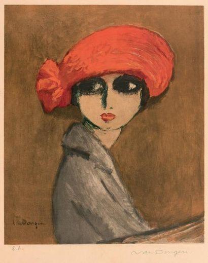 Kees VAN DONGEN (1877-1968) Le Coquelicot Affiche pour l'exposition Van Dongen au...