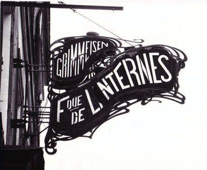 """ENSEIGNE LUMINEUSE DE LA FABRIQUE DE LANTERNES ET RÉFLECTEURS """" L. GRIMMEISEN """"..."""