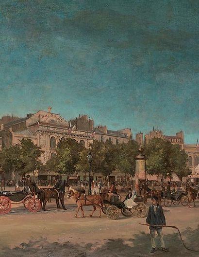 KARL MARIA PERTGEN (1881-?) Vue générale des théâtres du boulevard du Temple, avant...