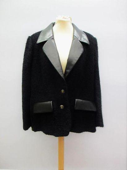CELINE Paris Veste blazer en laine bouclette...