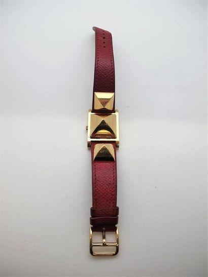HERMES Paris Bracelet montre modèle Médor...