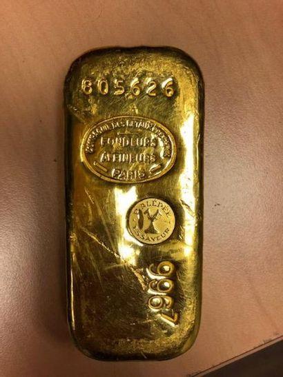 LINGOT EN OR Poids de l'or fin pour 1 kg...