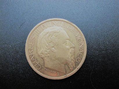 PRINCIPAUTE DE MONACO. 100 francs or, Charles...