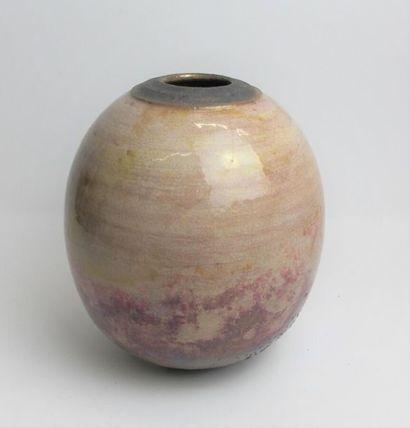 BUTHOD GARCON Gisèle (née en 1954) Vase ovoïde...