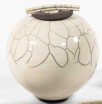 DELANGHE Rudie (né en 1955) Pot couvert ovoïde...