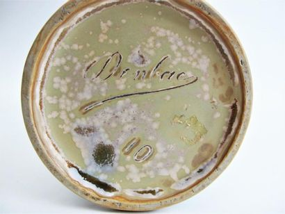 "DENBAC (René DENERT & René-Louis BALICHON) Important vase balustre avec anses ""..."