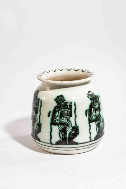 RANDOUR Louis Important vase cylindrique...