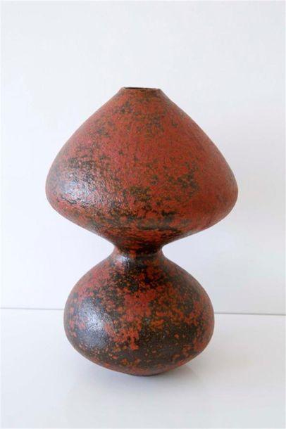 DEBRIL Claire (née en 1927) Vase à double...