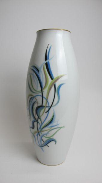 MANUFACTURE NATIONALE DE SÈVRES & ROLAND GOUJON (décor de) Important vase ovoïde...
