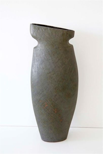 DEBRIL Claire (née en 1927) Vase ovale à...