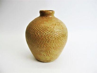 PERROT Théo (1856-1942) Vase boule à col...
