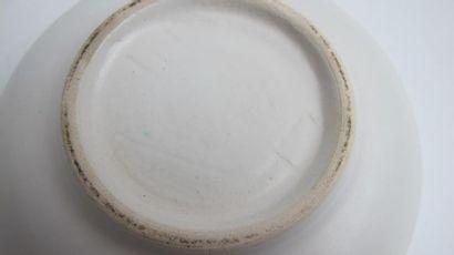 JOUVE Georges (1910-1964) Coupe circulaire en céramique à couverte extérieure émaillée...