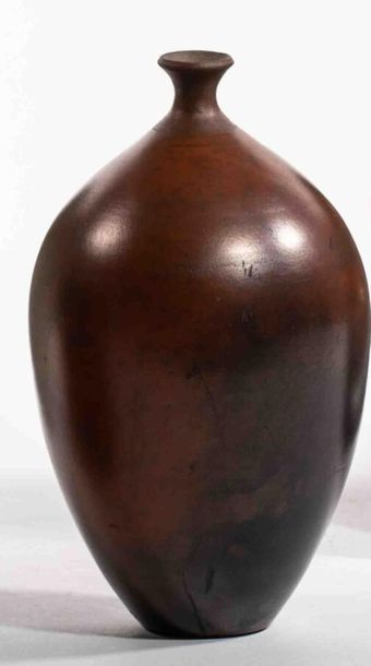 EVERAERT Fernand (né en 1947) Vase ovoïde...